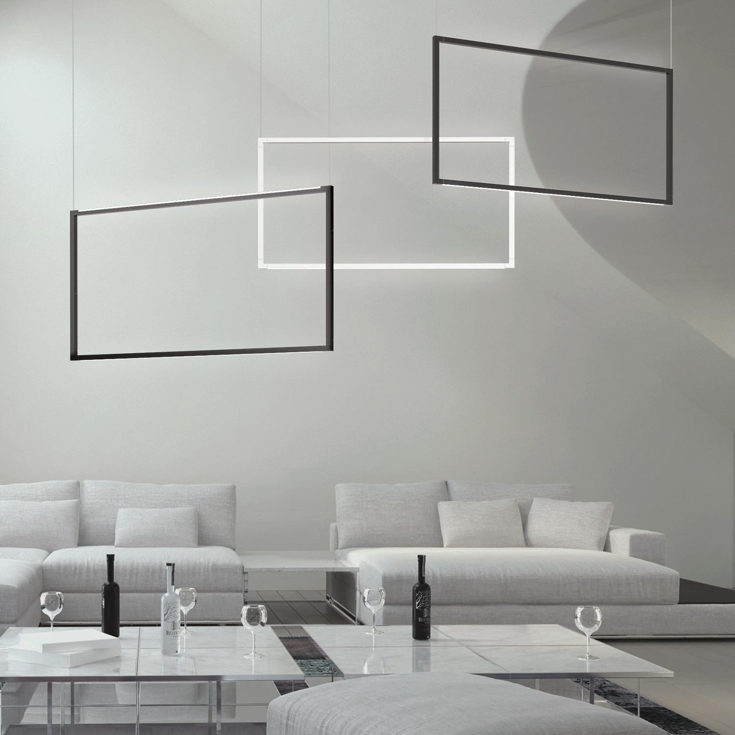 Nedhengt LED-armatur Spigolo fra Nemo Lighting